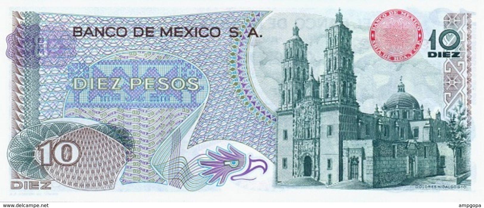 Mexico 10 Pesos 15-5-1975 Pick 63.h.5 UNC - México