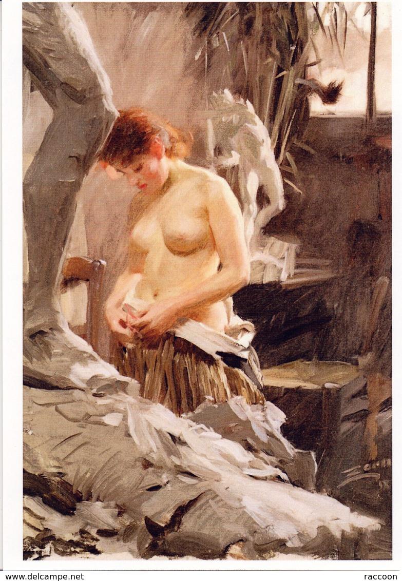 ZORN: Dans L'atelier De Wilkstrom [ Nu Femme Sculpteur CPM ] EP083 - Tableaux