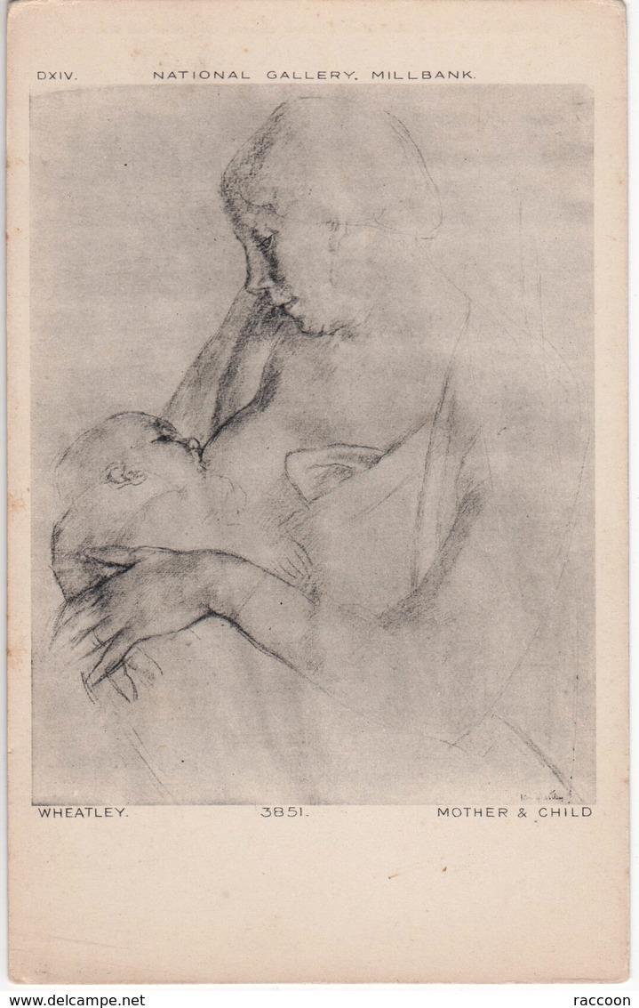 WHEATLEY: Mère Et Enfant [ Nu Femme Maternité Allaitement CPA Anglaise ] EP096 - Tableaux