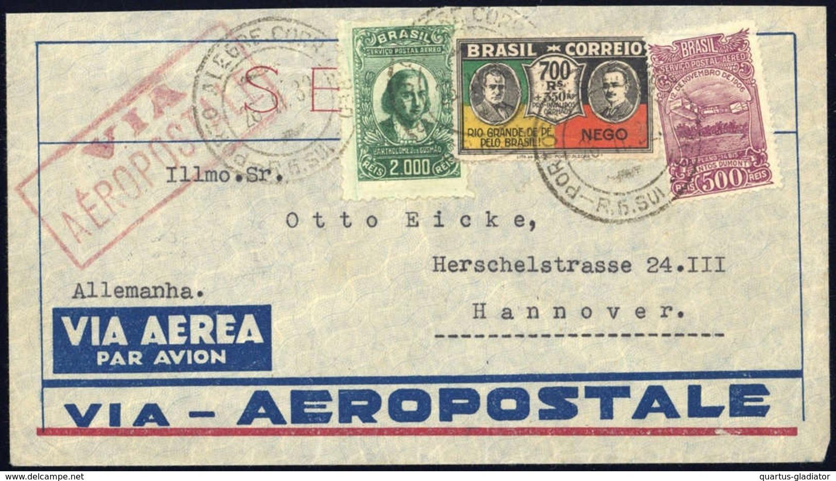 1929, Brasilien, 347 U.a., Brief - Brésil