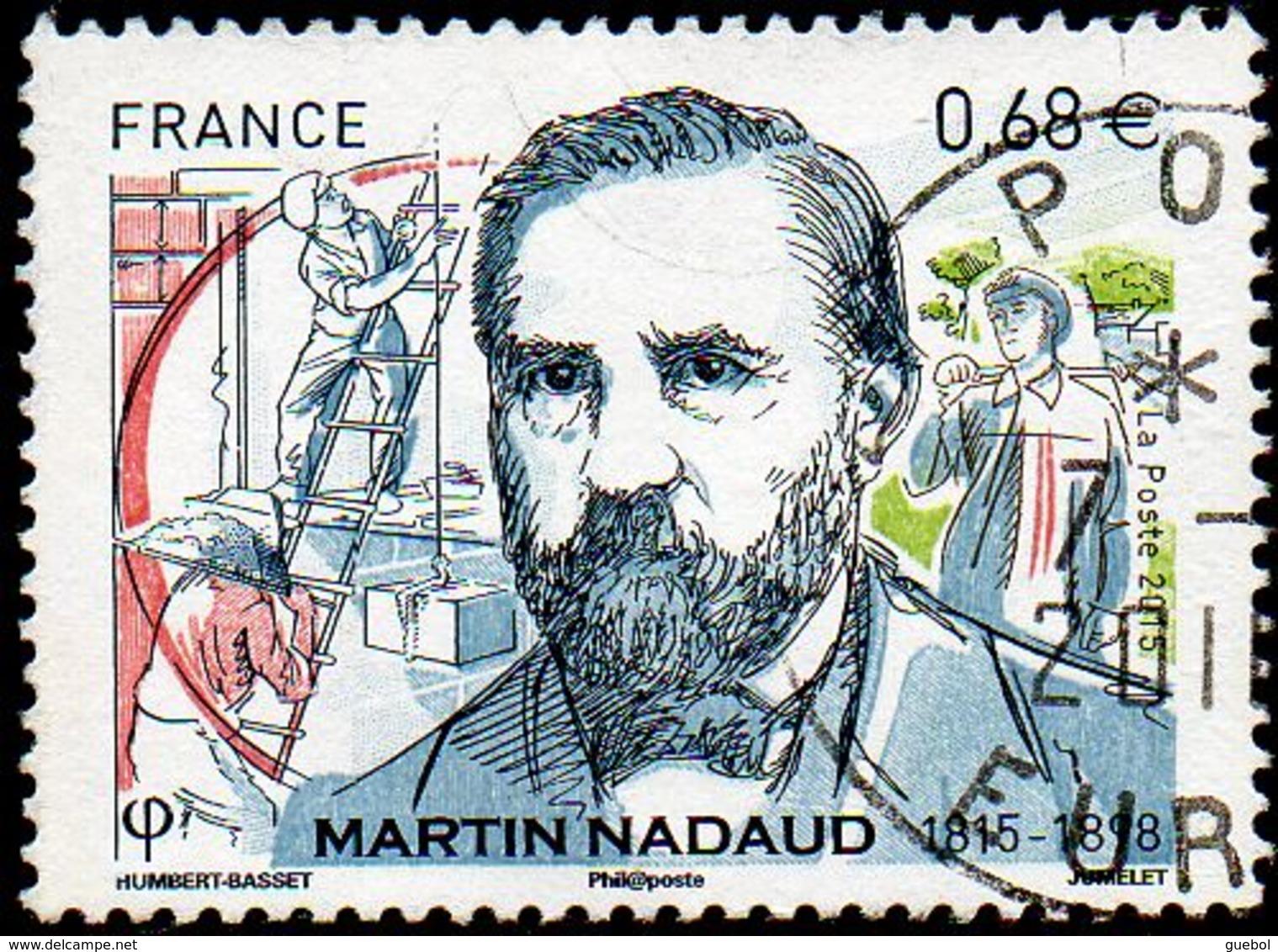 France Oblitération Cachet à Date N° 4968 - Martin Nadaud - Oblitérés