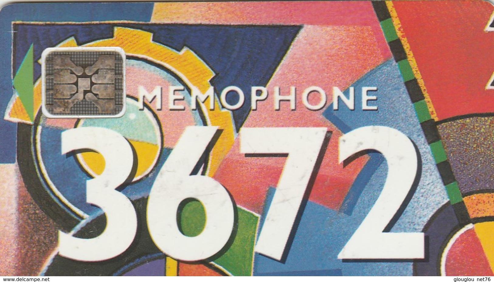 TELECARTE 50...MEMOPHONE 3672...... - France