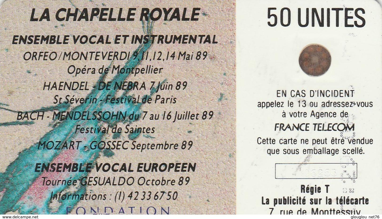 TELECARTE 50....MECENE DE LA CHAPELLE ROYALE...... - France