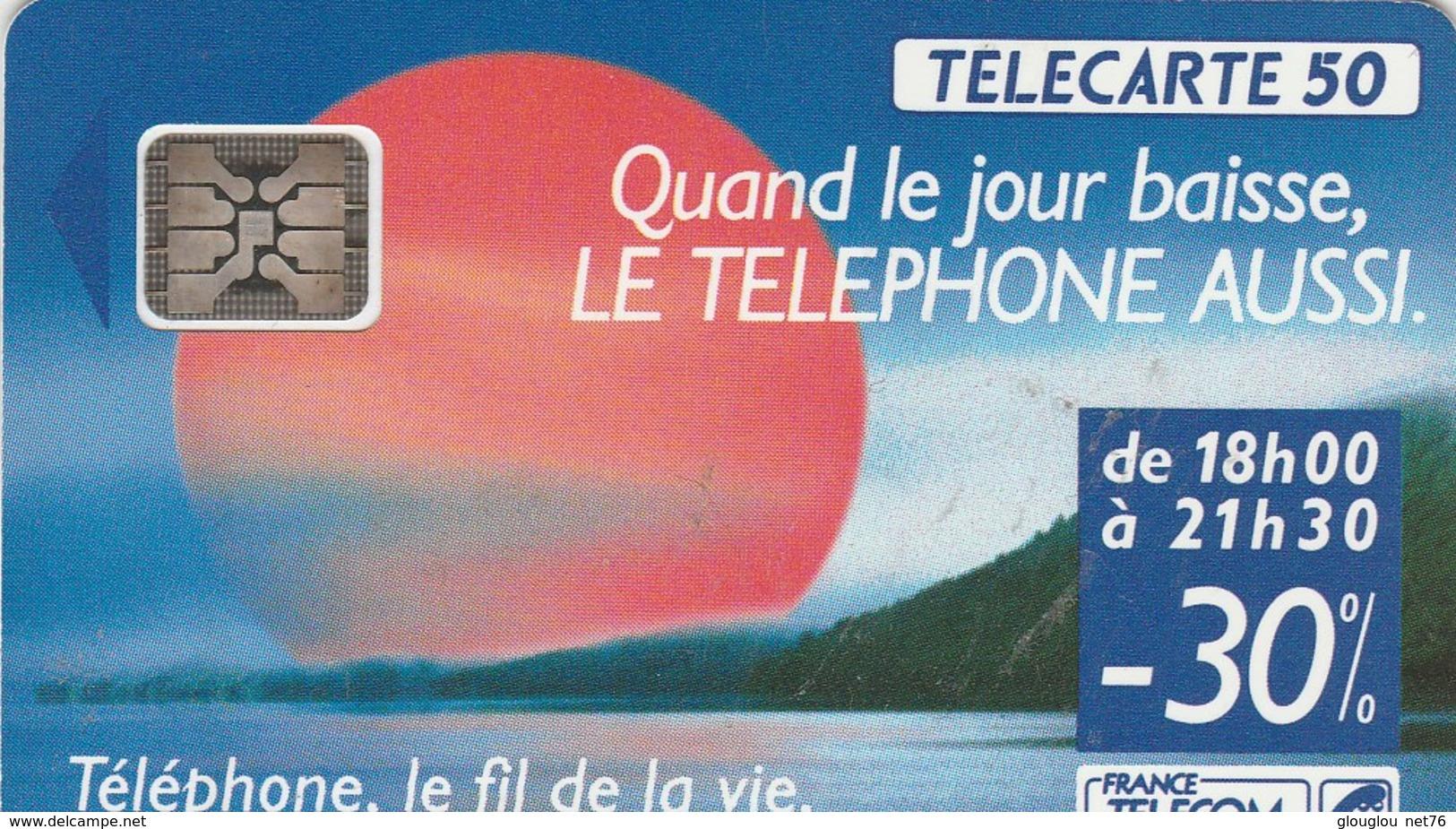 TELECARTE 50....TELEPHONE,LE FIL DE LA VIE..... - France