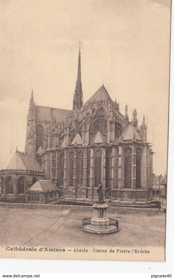 CP , 80 , AMIENS , Cathédrale , Abside , Statue De Pierre L'Ermite - Amiens