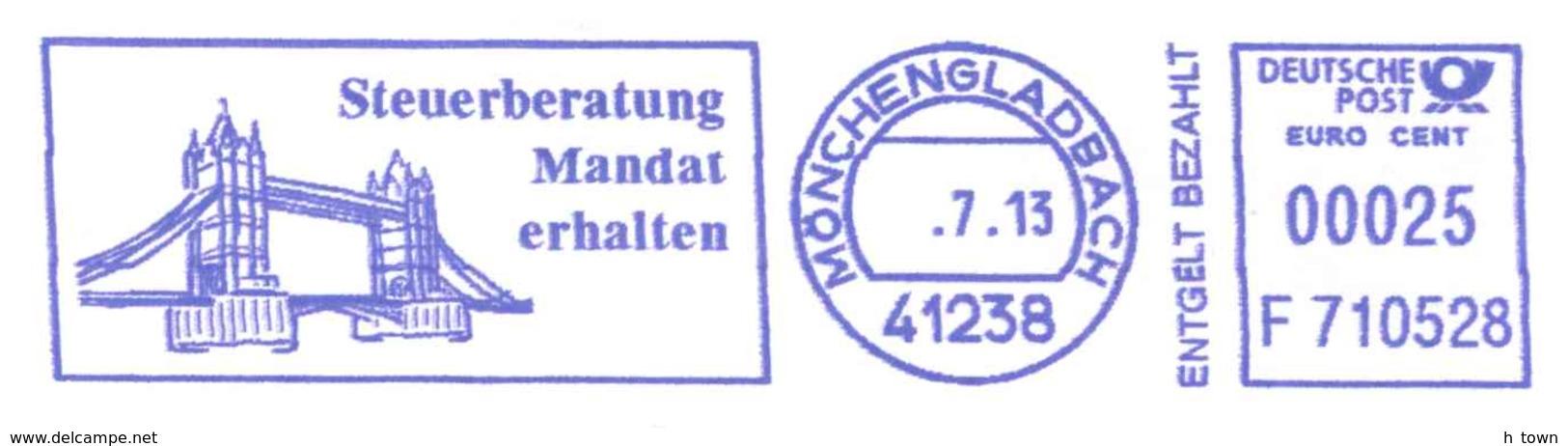 7189  London Tower Bridge: Meter Stamp From Germany. Pont - Brücken