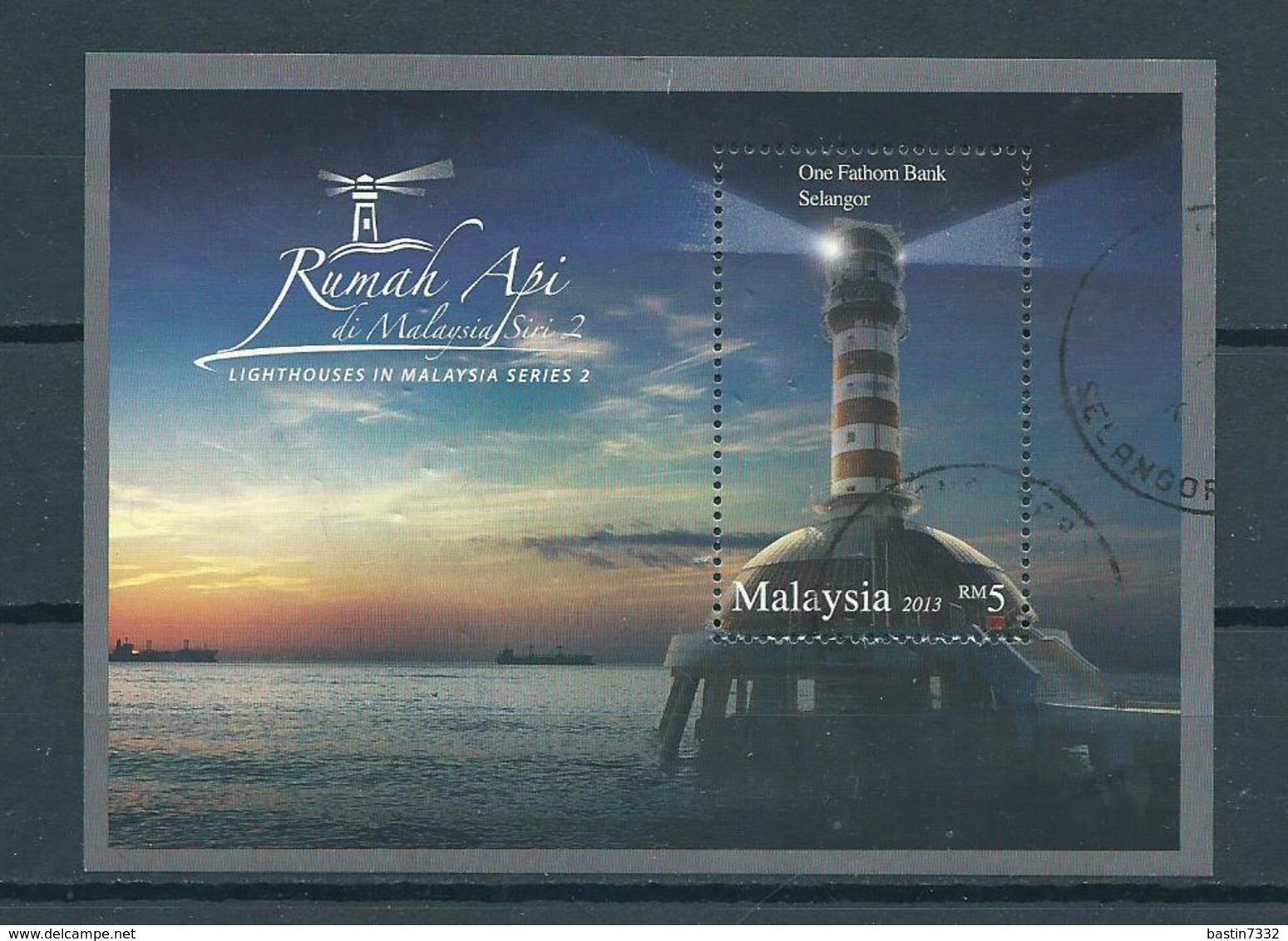 2013 Malaysia Complete M/Sheet Vuurtoren,lighthouse.leuchttürme Used/gebruikt/oblitere - Maleisië (1964-...)