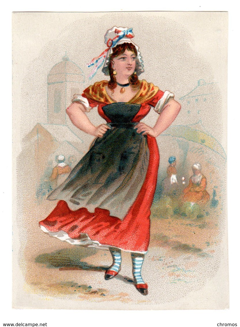 Chromo Imp. Appel, 1-1-17, Hommes Et Femmes En Costumes Du Directoire - Cromo