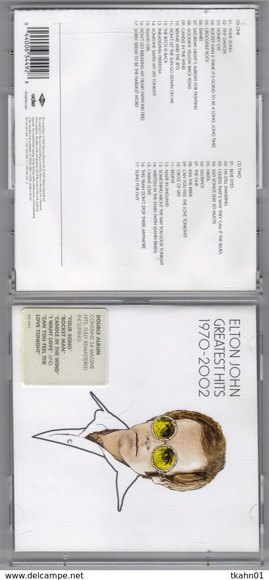 "ALBUM C-D "" ELTON JOHN "" GREATEST HITS 1972-2002   2 C-D - New Age"