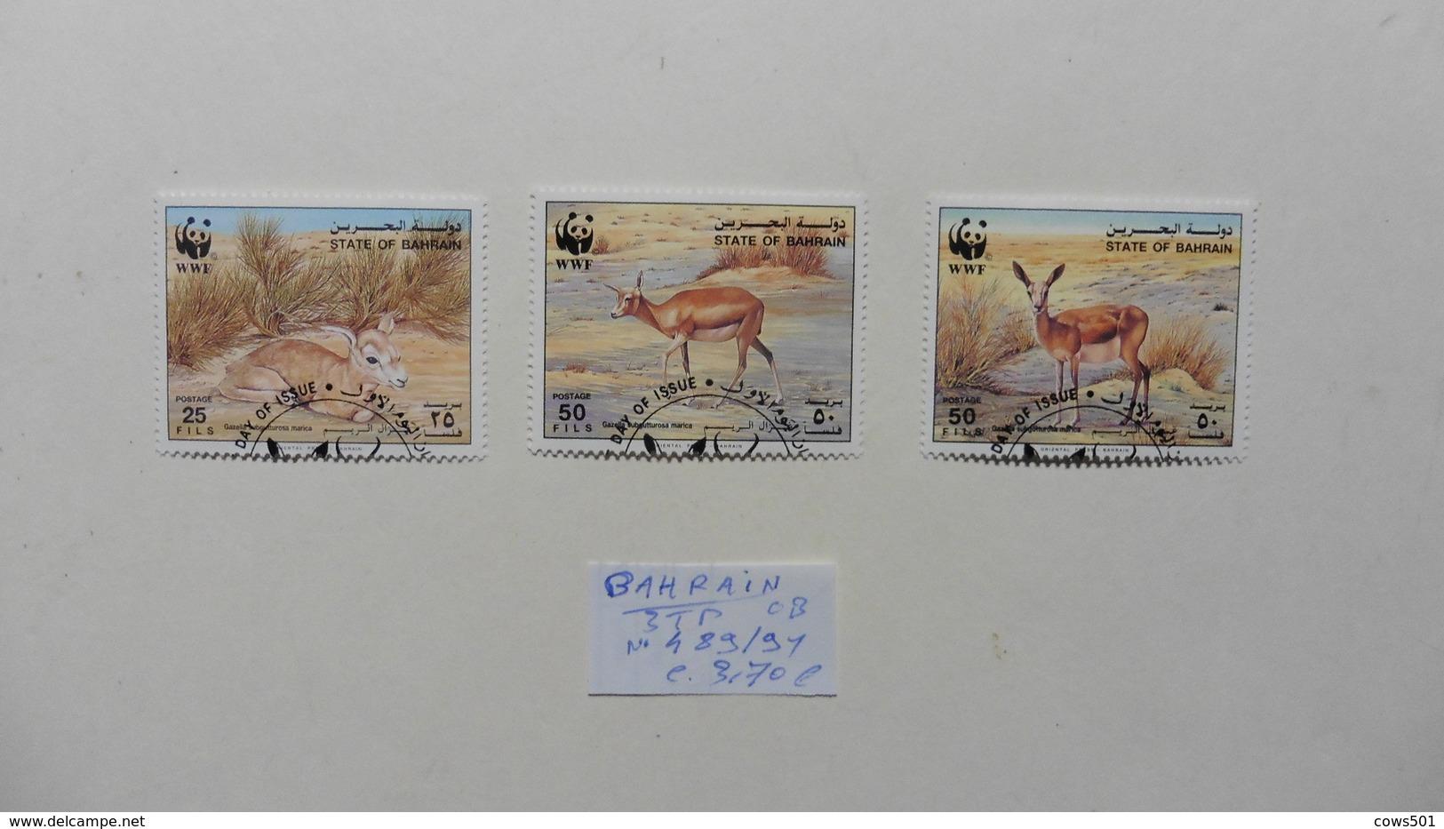 Asie > Bahreïn : 3 Timbres Oblitérés N° 489/91 - Bahreïn (1965-...)