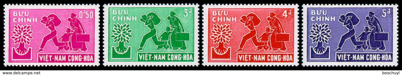 Vietnam, South, 1960, World Refugee Year, WRY, United Nations, MNH, Michel 204-207 - Viêt-Nam