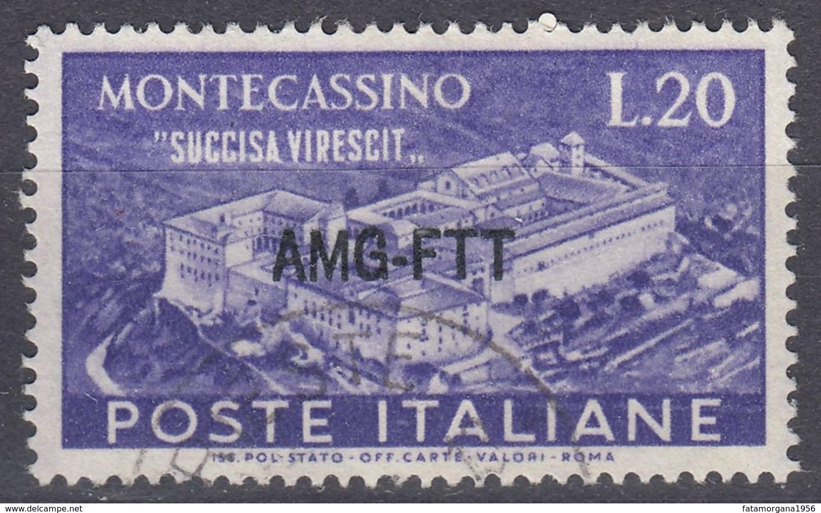 TRIESTE ZONA A - 1951 - Yvert 114 Usato. - 7. Triest