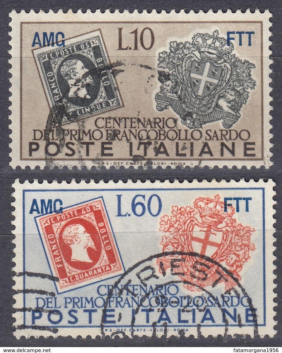 TRIESTE ZONA A - 1951 - Lotto Di Due Valori Usati: Yvert 122 E 124. - 7. Triest