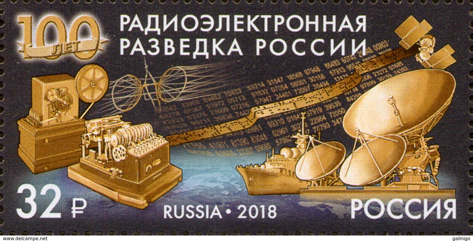 2018-2365 1v Russia Russland Russie Russian Signals Intelligence MILITARY SPACE Ship Mi 2583 MNH ** - 1992-.... Federazione