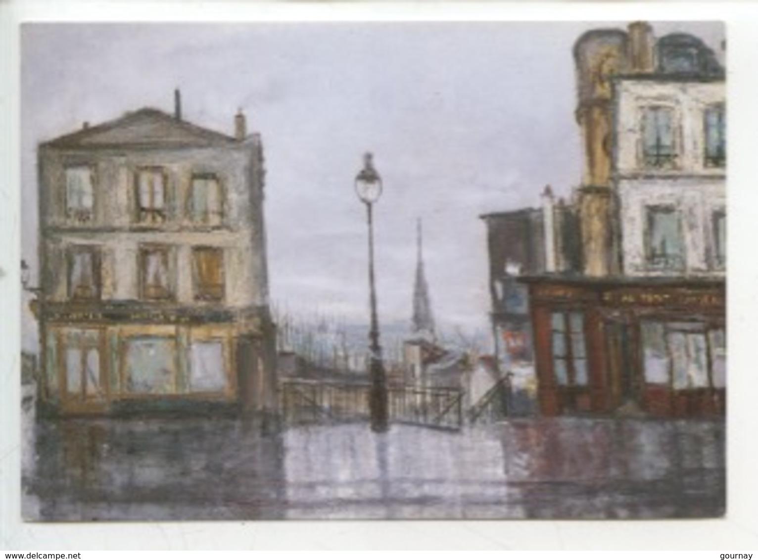 Serge Belloni - Rue Piat à Belleville 1961 (Paris Peintres) Art Tableau - Cp Vierge - Arrondissement: 20