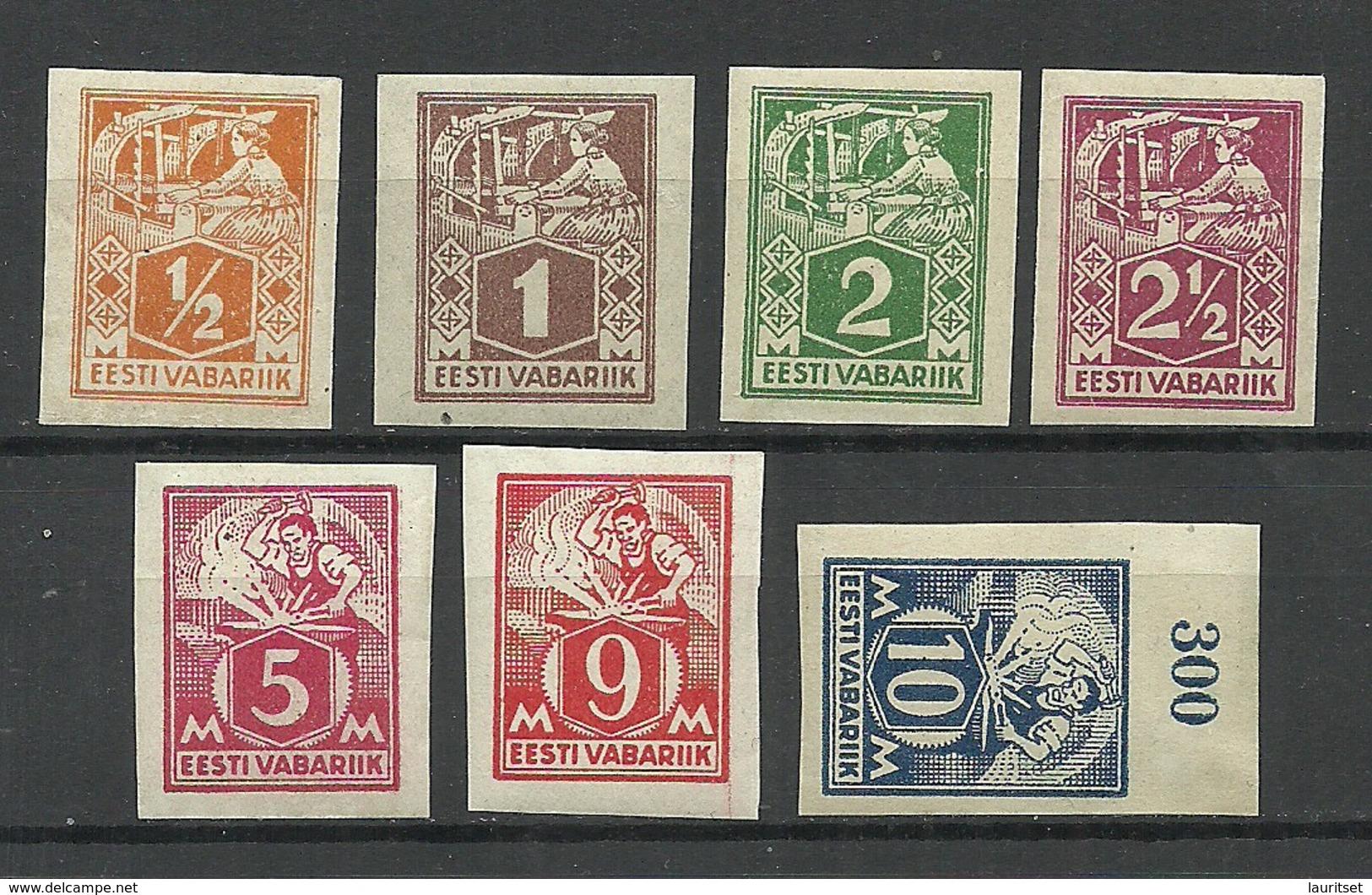 Estland Estonia 1922-1924 Michel 32 - 39 B * - Estonie