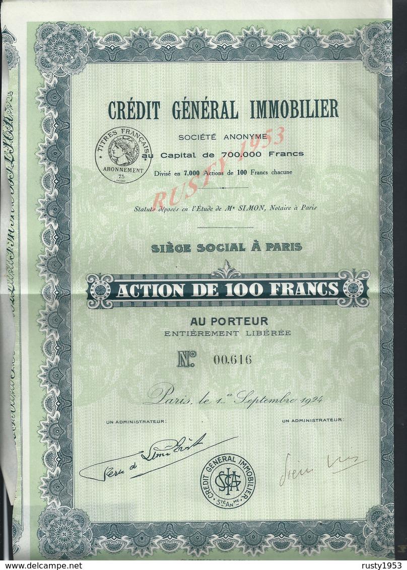 ACTION CRÉDIT GÉNÉRAL IMMOBLIER : - Banque & Assurance