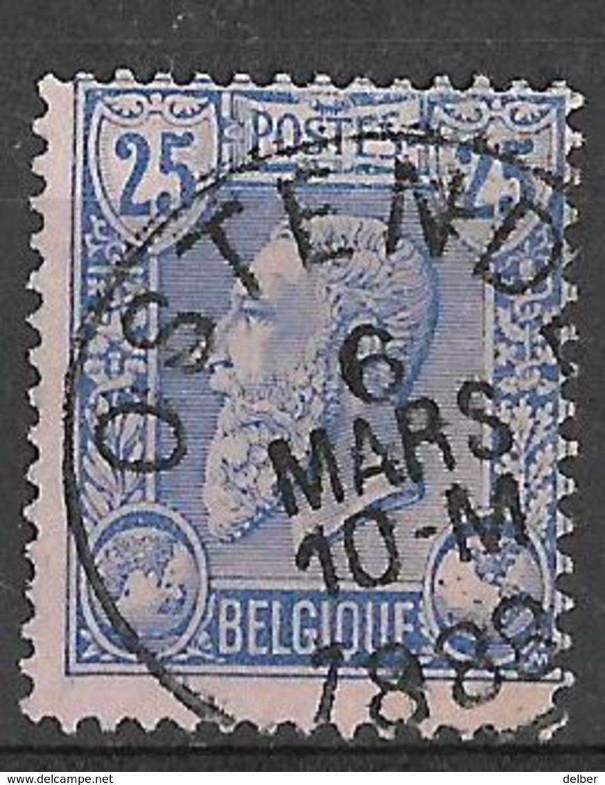 8S-438:N°48: E9: OSTENDE - 1884-1891 Léopold II