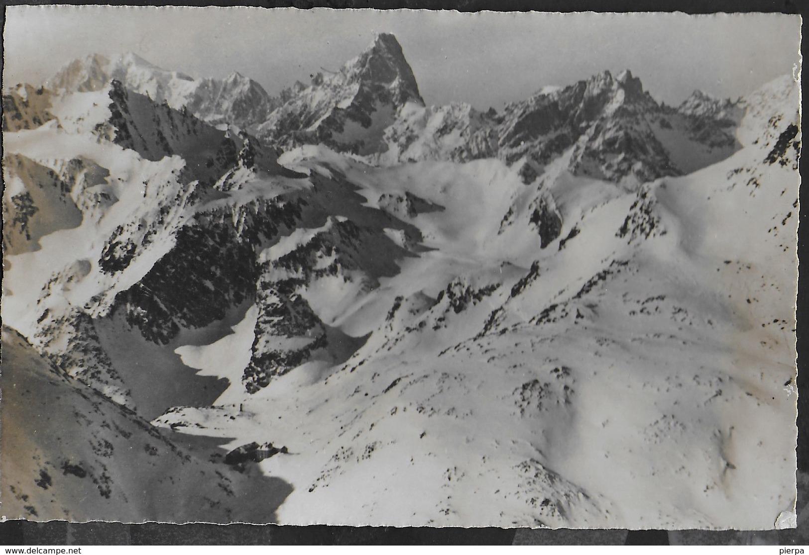HOSPICE DI GRAND ST- BERNARD IN INVERNO - MONTE BIANCO E LE GRANDES JORASSES - EDIZ, SEAL 1939 - FORMATO PICCOLO - Alpinisme