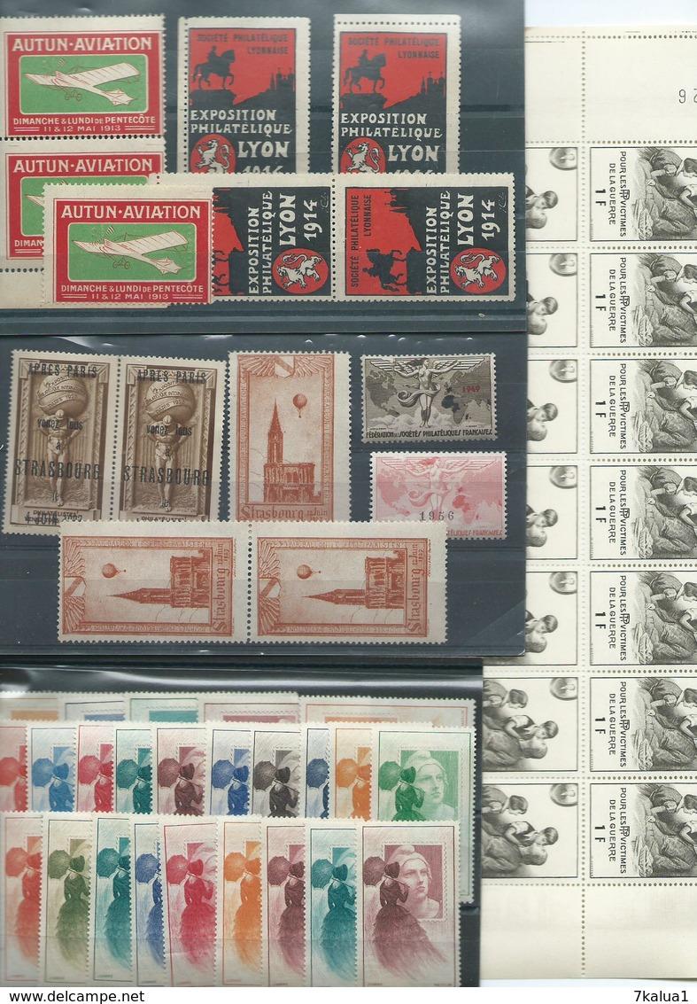 FRANCE : Lot De Vignettes Diverses, Thèmes Variés. 4 Scans, Départ 1 €. - Collections (sans Albums)