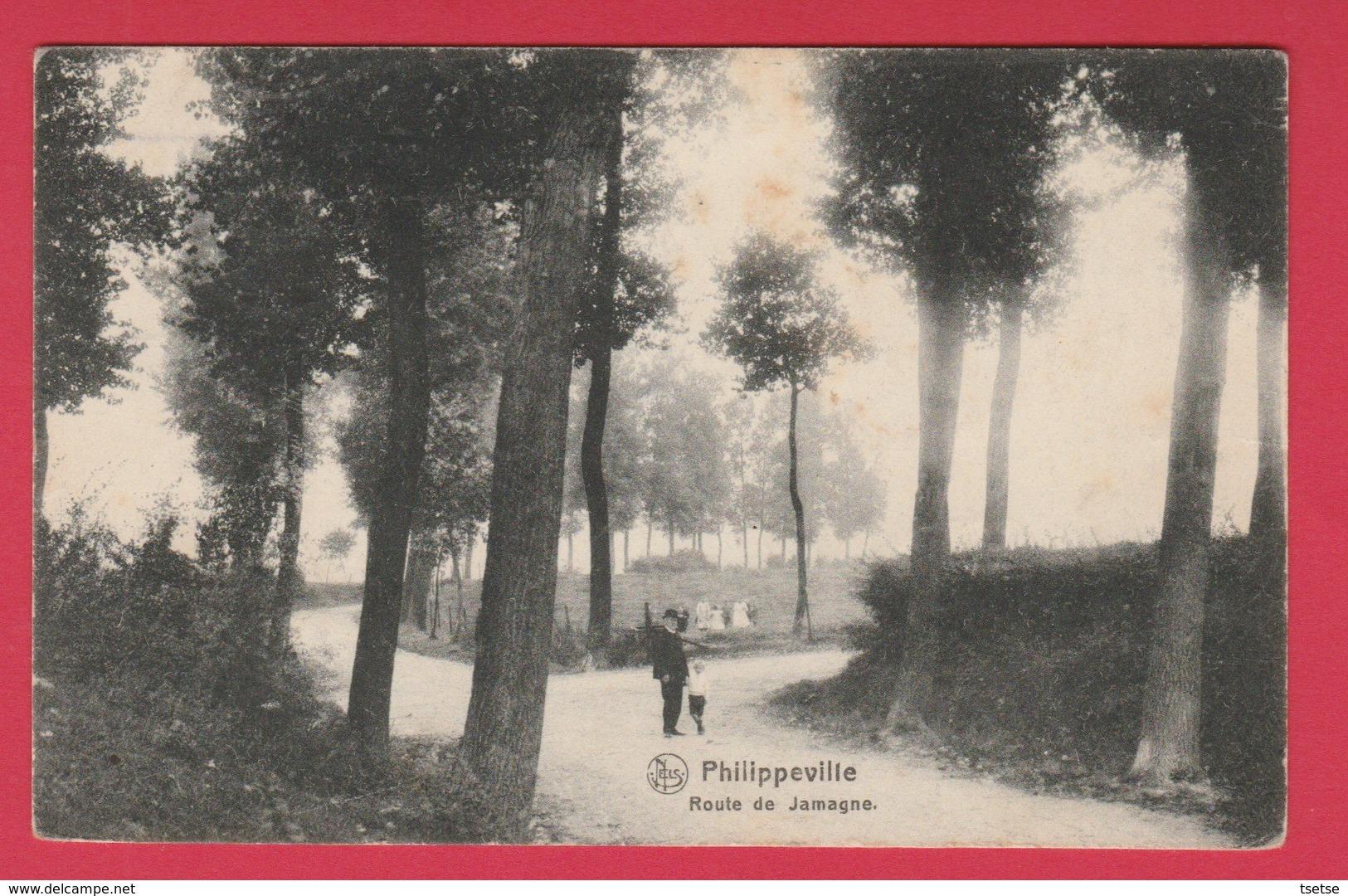Philippeville - Route De Jamagne -191? ( Voir Verso ) - Philippeville