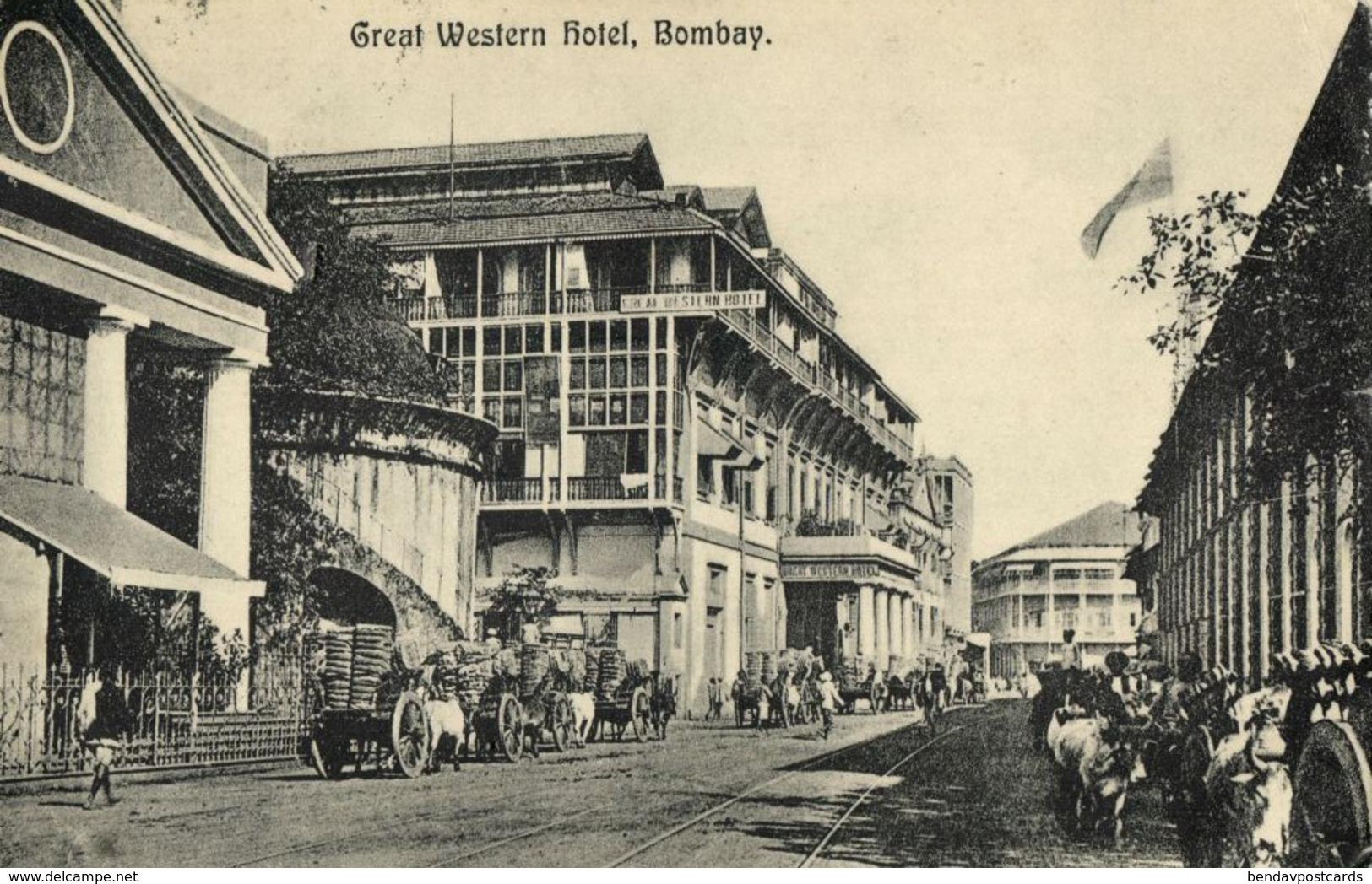 India, BOMBAY, Great Western Hotel (1913) Postcard - India