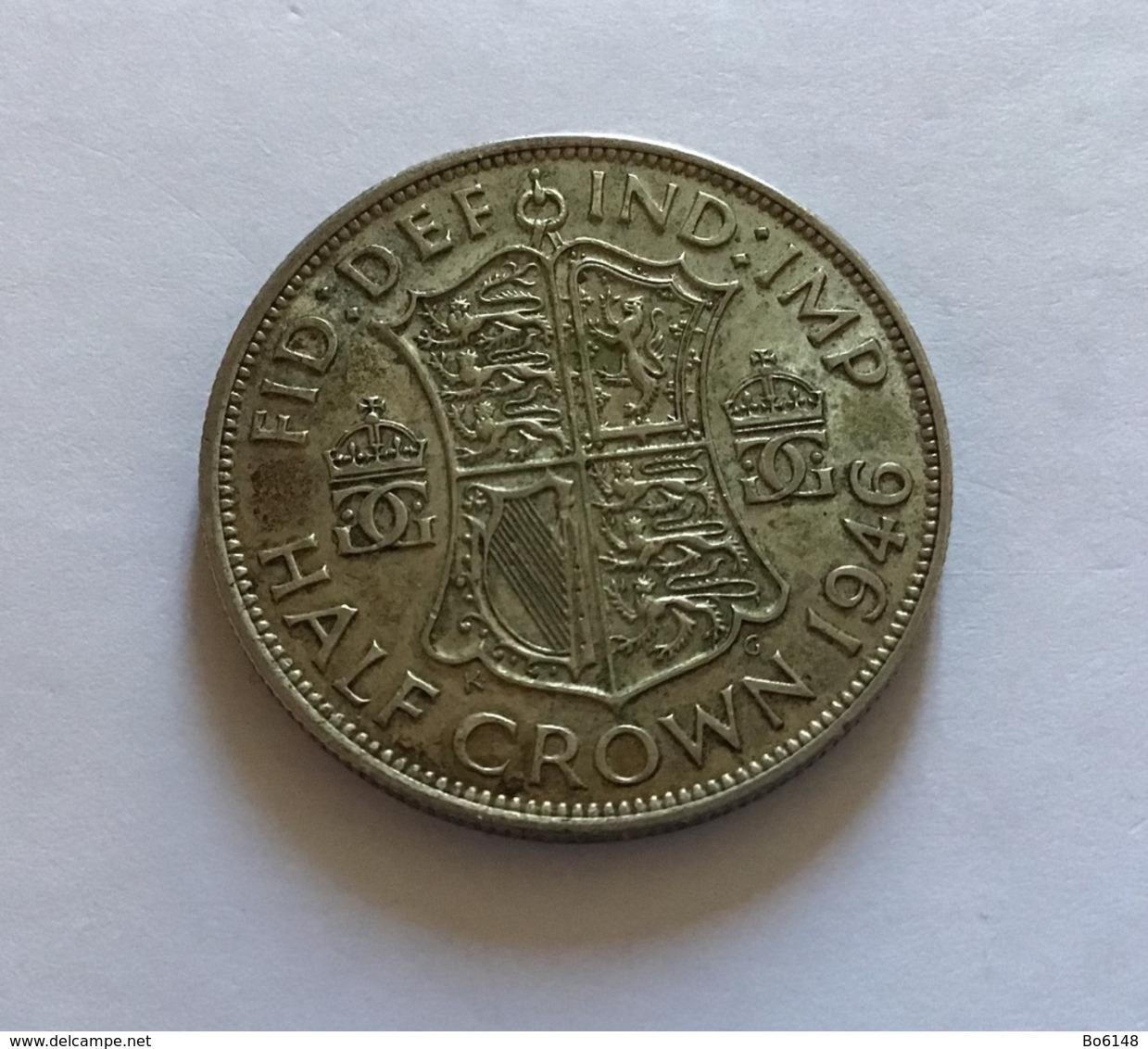 GRAN BRETAGNA  - ENGLAND - 1946 - 1/2 CROWN ARGENTO Giorgio VI - Altri