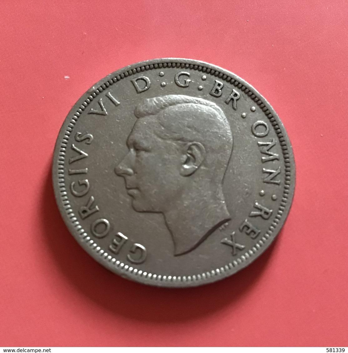GRAN BRETAGNA  - ENGLAND - 1947 - 1/2 Half CROWN  Giorgio VI - Altri