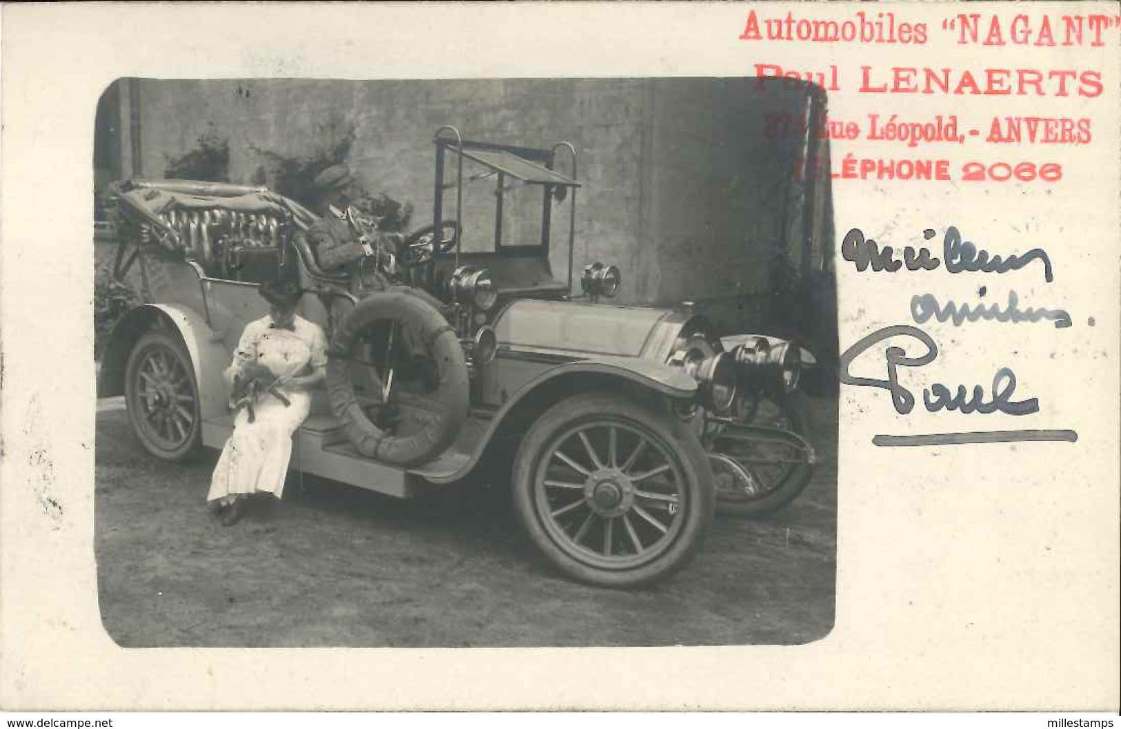 """1 CPA """"publicitaire"""" Automobiles """"NAGANT"""" - Paul Lenaerts - 1907 - Publicité"""