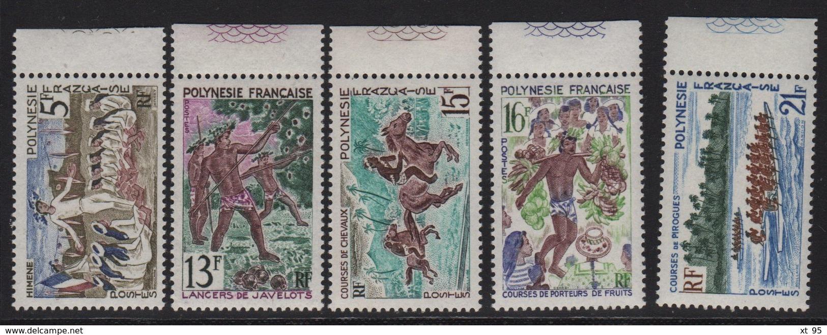 Polynesie - N°47 à N°51 - ** Neufs Sans Charniere - Fete De Juillet - Cote 26€ - French Polynesia