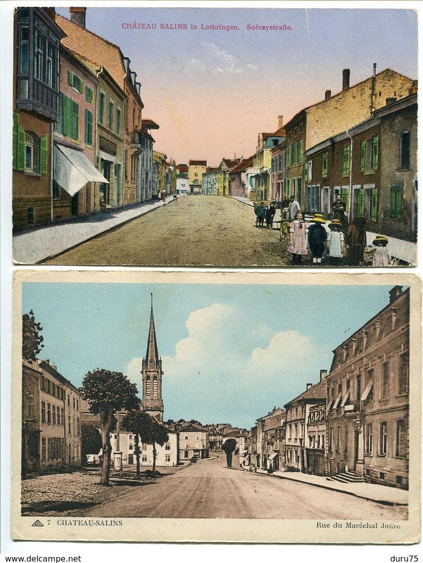 LOT 2 Cartes * CHATEAU SALINS Solvaystraße ( Solvaystrasse Rue Solvay ) Et Rue Du Maréchal Joffre - Chateau Salins