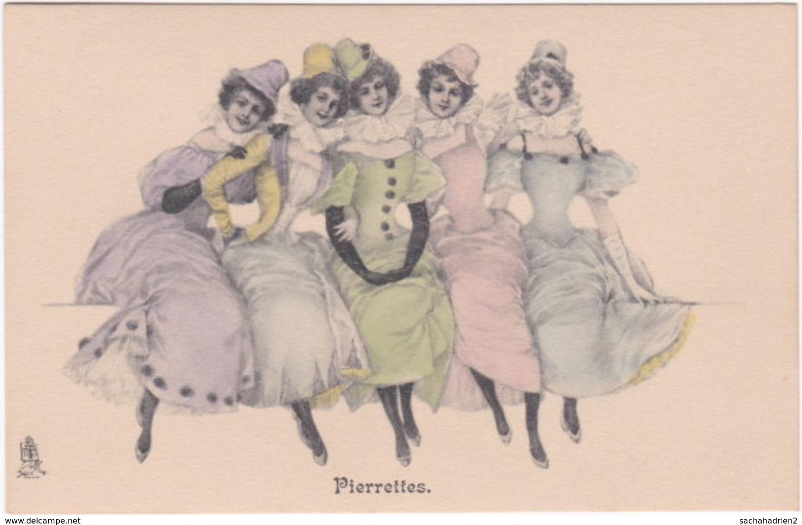 Raphael Tuck Et Fils. Série 334. Pierrettes - Illustratoren & Fotografen