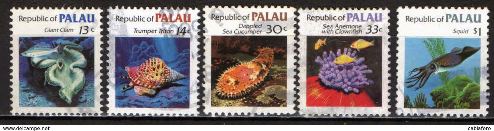 PALAU - 1983 - FAUNA MARINA - MAIRNE LIFE - USATI - Palau