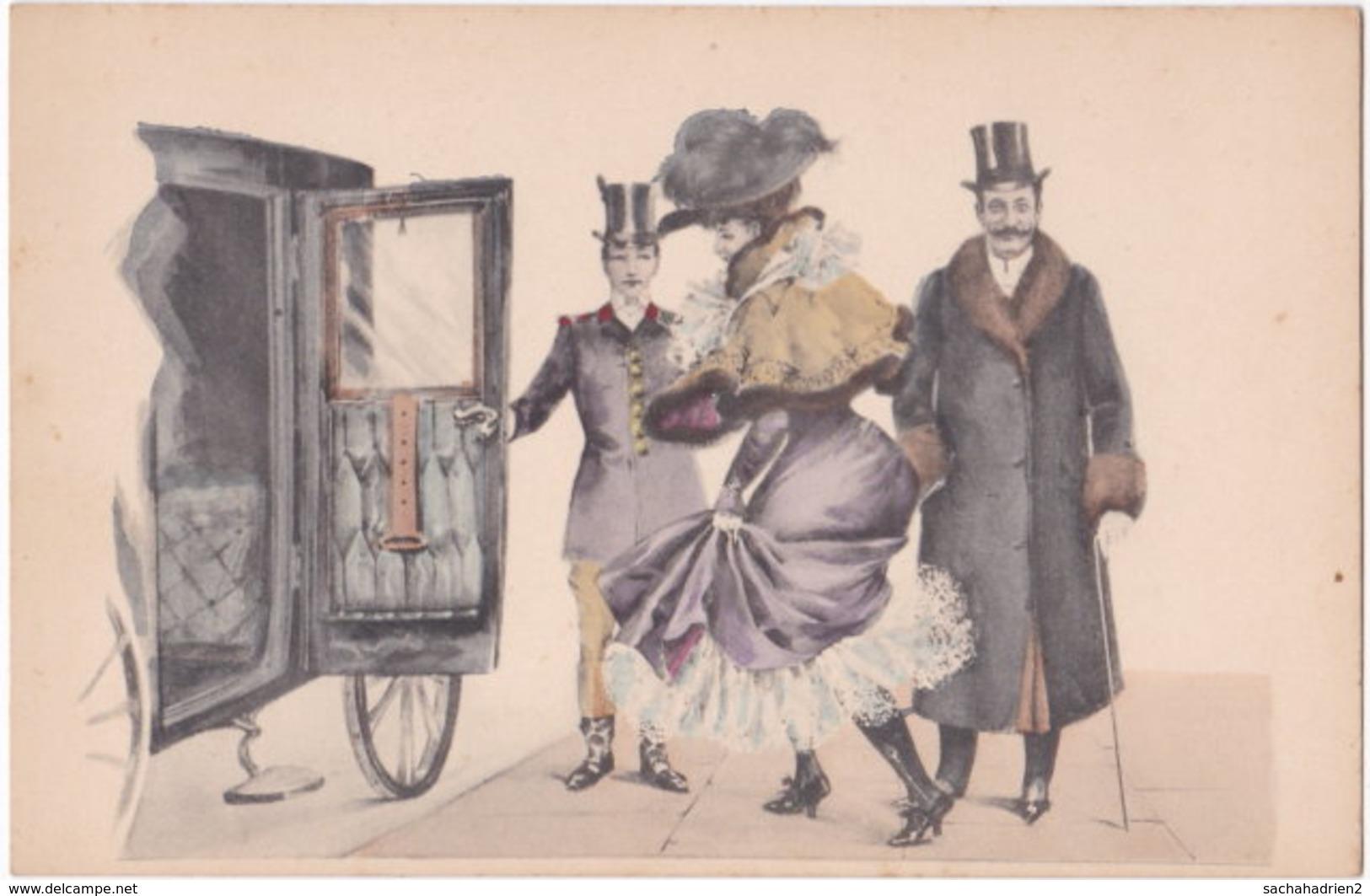 Illustrateur. Belle Epoque. Danseuse Et Galant (5) - Illustratoren & Fotografen