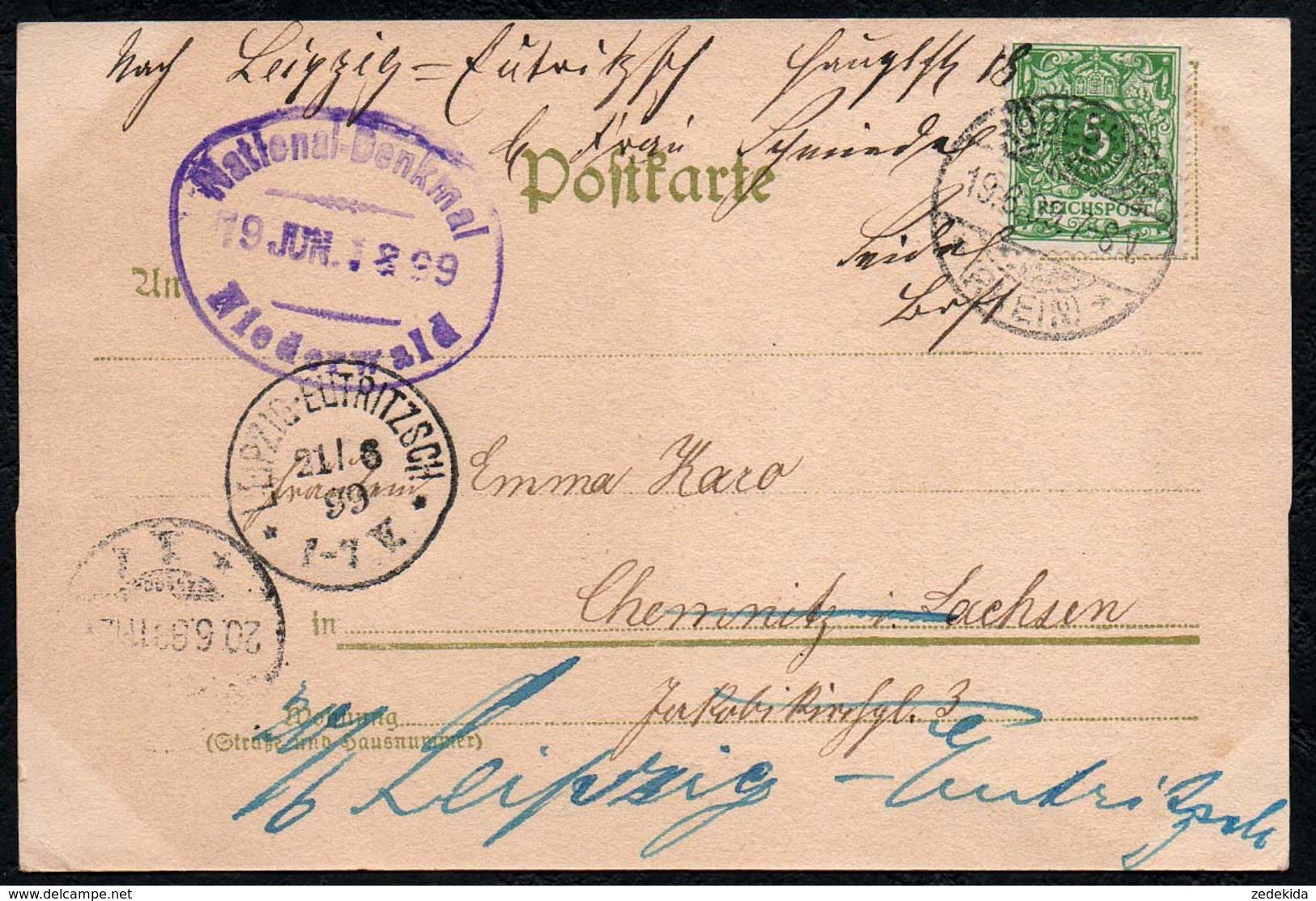 B5019 - National Denkmal Niederwald -  Johannes Schilling - F.&O. Brockmann Dresden - Monuments