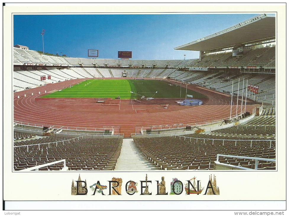 "ESTADIO - STADIUM - STADE - STADION .-  "" LLUIS COMPANYS (OLYMPICO) "" .- BARCELONA.- ( ESPAÑA ) - Fútbol"