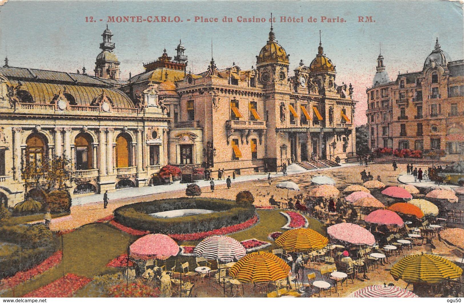 Monte Carlo (Monaco) - Place Du Casino Et Hôtel De Paris - Monte-Carlo