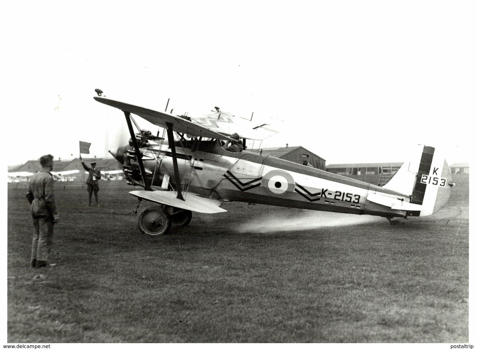 BRISTOL  BULLDOG   RAF     21 * 17 CM Aviation, AIRPLAIN, AVION AIRCRAFT WW2 - Aviación