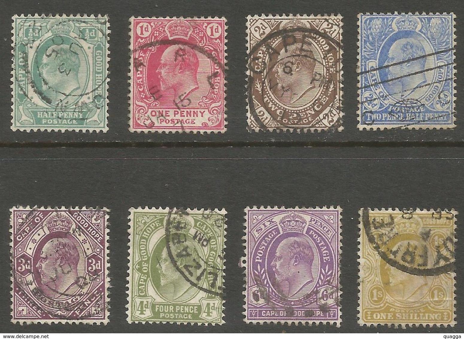 Cape Of Good Hope 1902. ½d - 1sh (wmk. Anchor). SACC 65-72, SG 70-77. - Südafrika (...-1961)