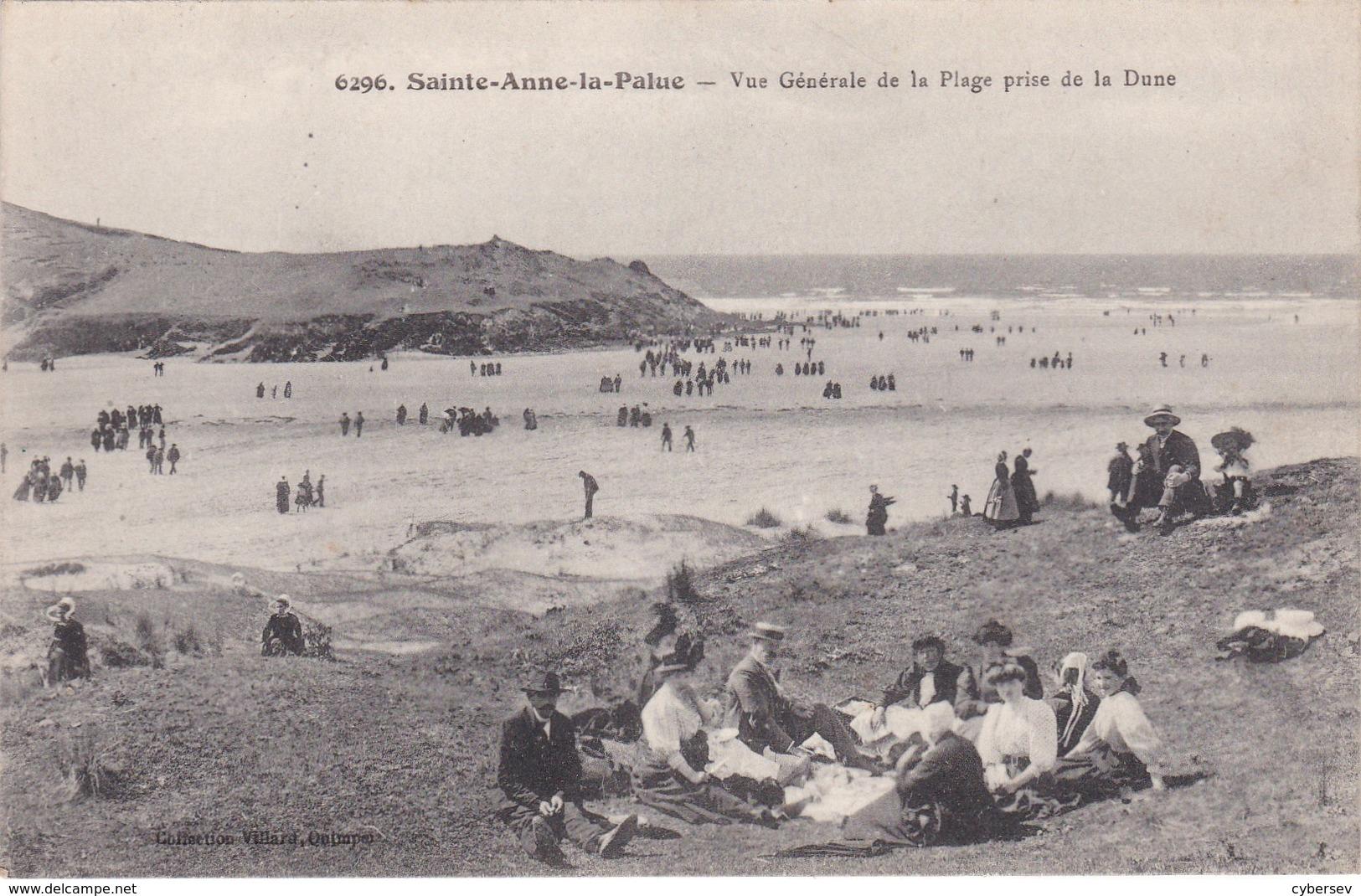 SAINTE-ANNE-de-LA PALUD - Vue Générale De La Plage Prise De La Dune - Déjeuner Sur L'Herbe - TBE - France