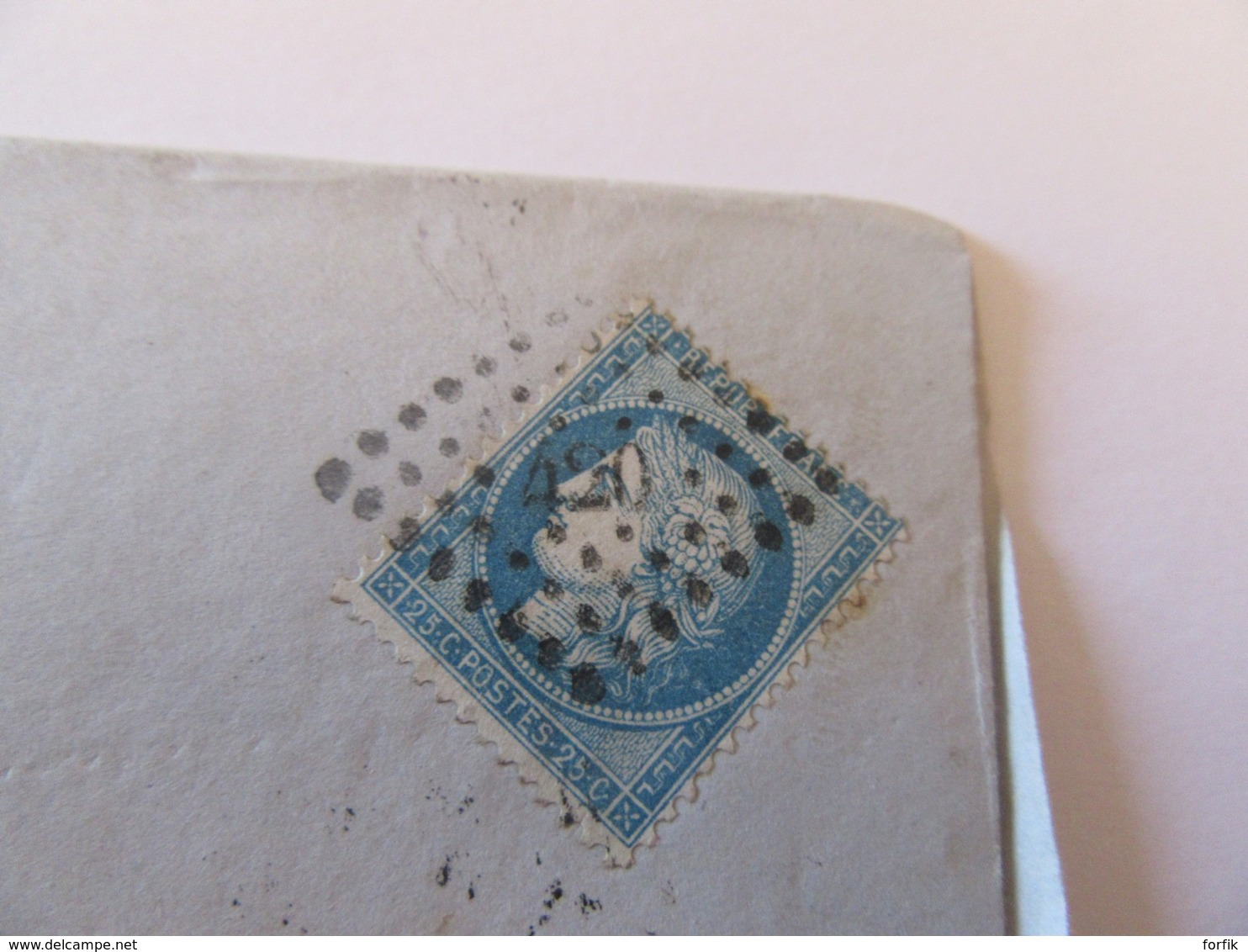 Timbre Cérès 25c YT N°60A Sur Lettre (Peugeot) - Belfort Vers Audincourt - Erreur (?) Ob. PC 420 (Blois) - Déc. 1872 - Postmark Collection (Covers)