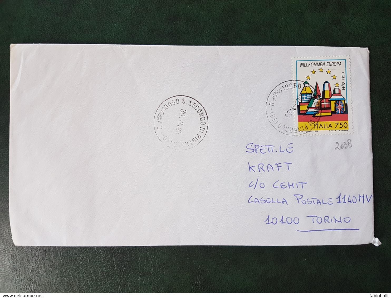 (19783) STORIA POSTALE ITALIA 1993 - 6. 1946-.. Repubblica