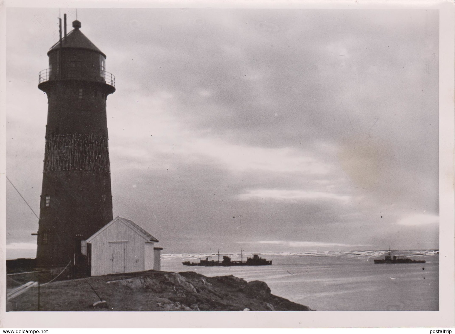LIGHTHOUSE FARO NORWAY NORWEGEN FOTO DE PRESSE WW2 WWII WORLD WAR 2 WELTKRIEG Aleman Deutchland - Guerra, Militares