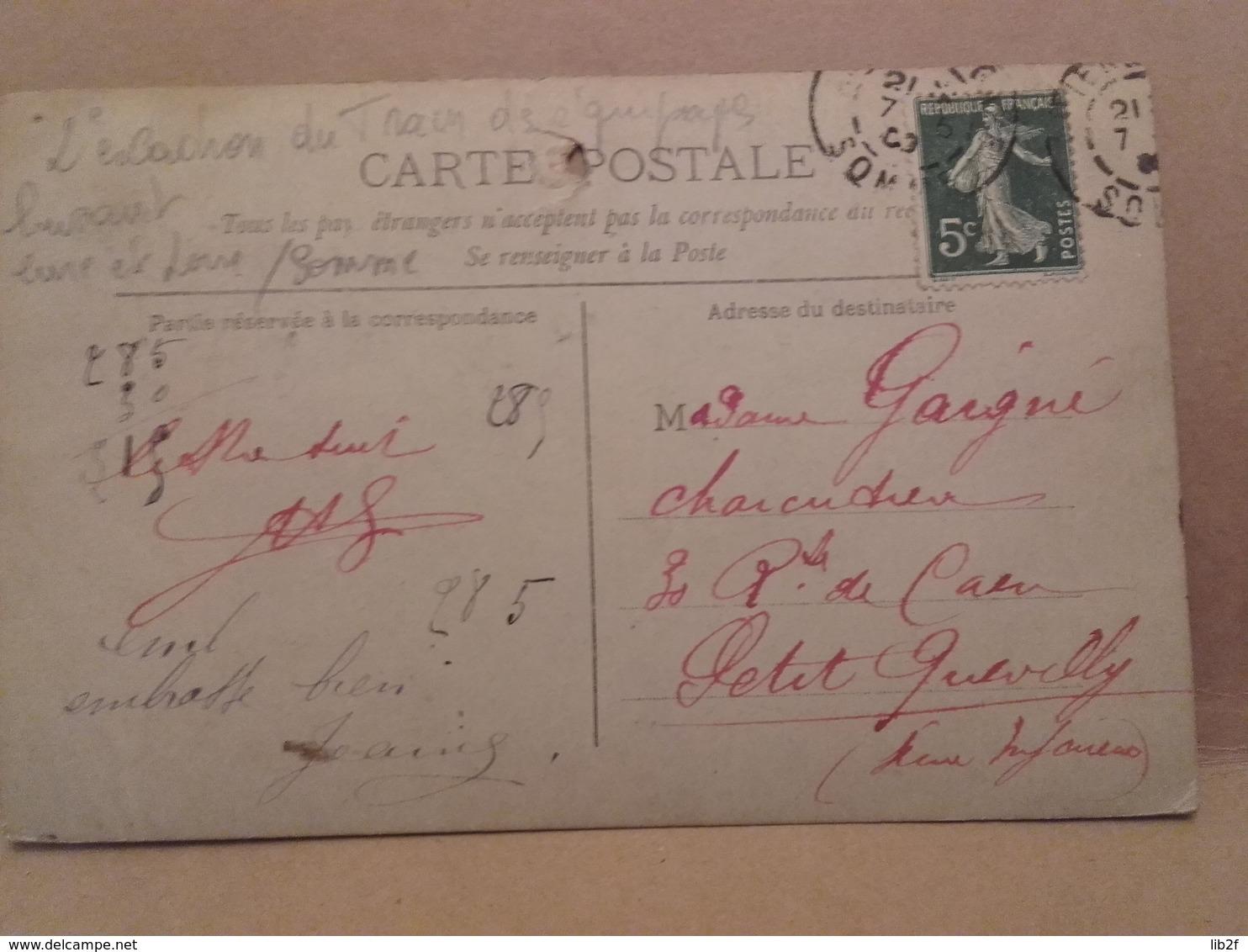 1914 Train Des équipages 2eme Escadron Luisant Eure Et Loire Somme Tranchée Poilus Ww1 1914 1918 14-18 1cph - War, Military