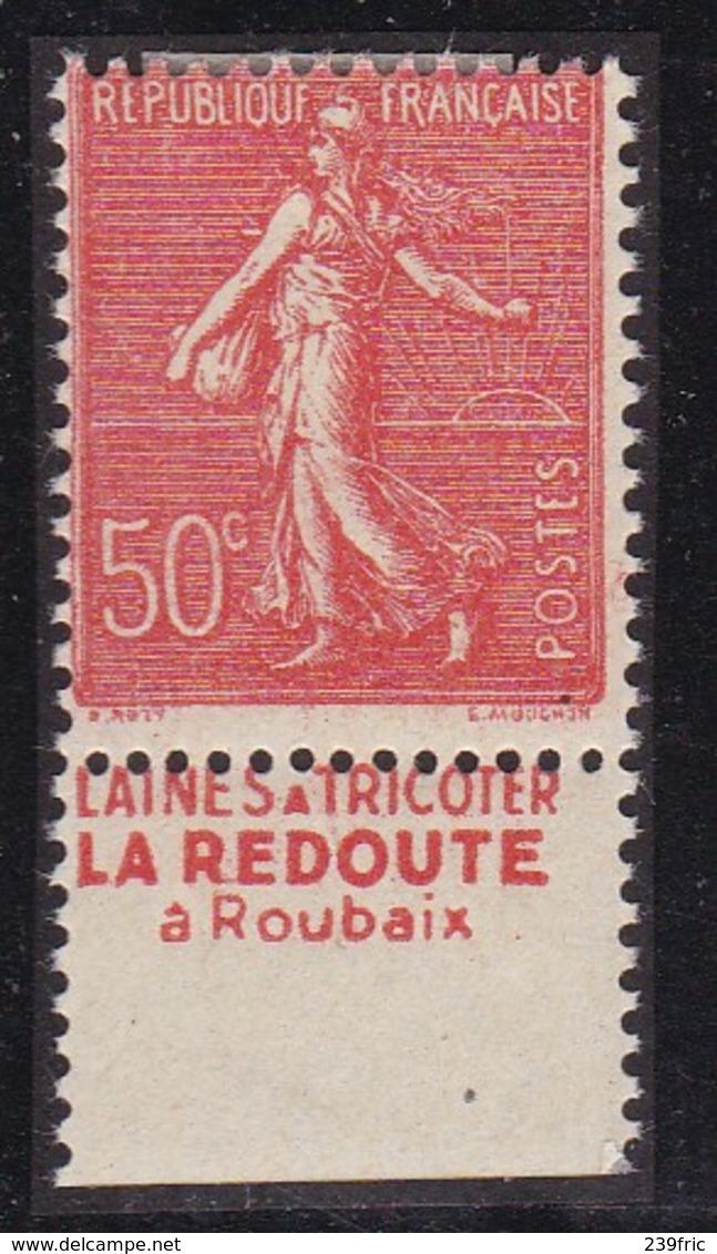 PUBLICITE: SEMEUSE LIGNEE 50C ROUGE LA REDOUTE-laine Tricoter BAS ACCP 461* - Advertising