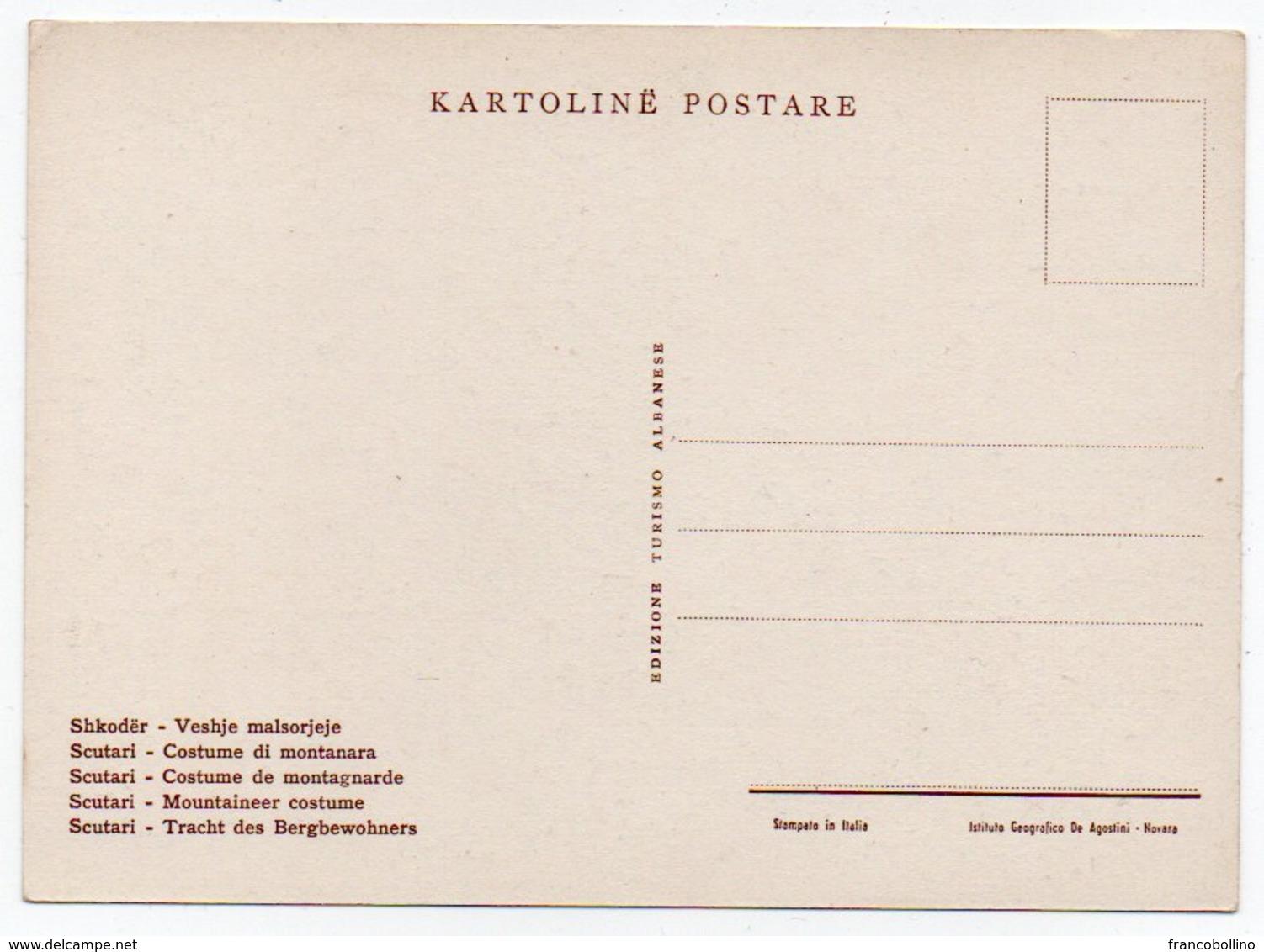 ALBANIE/ALBANIA - SCUTARI/SHKODER COSTUMI DI MONTANARA / COSTUMES / FOLKLORE (ILL.F.PULLUMI-1940) - Albania