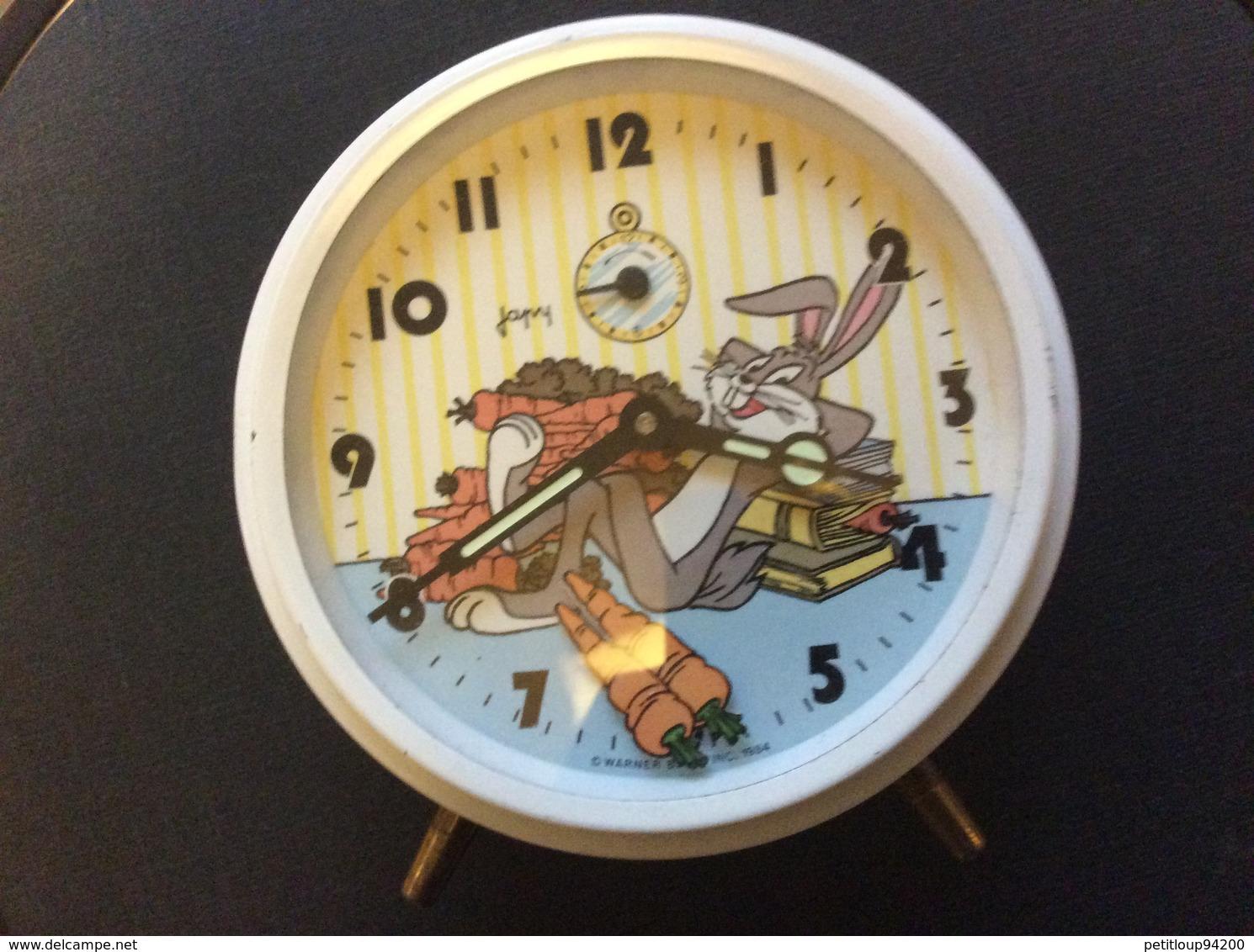 REVEIL ANIME JAPY. Bugs Bunny. WARNER BROS 1984 - Alarm Clocks