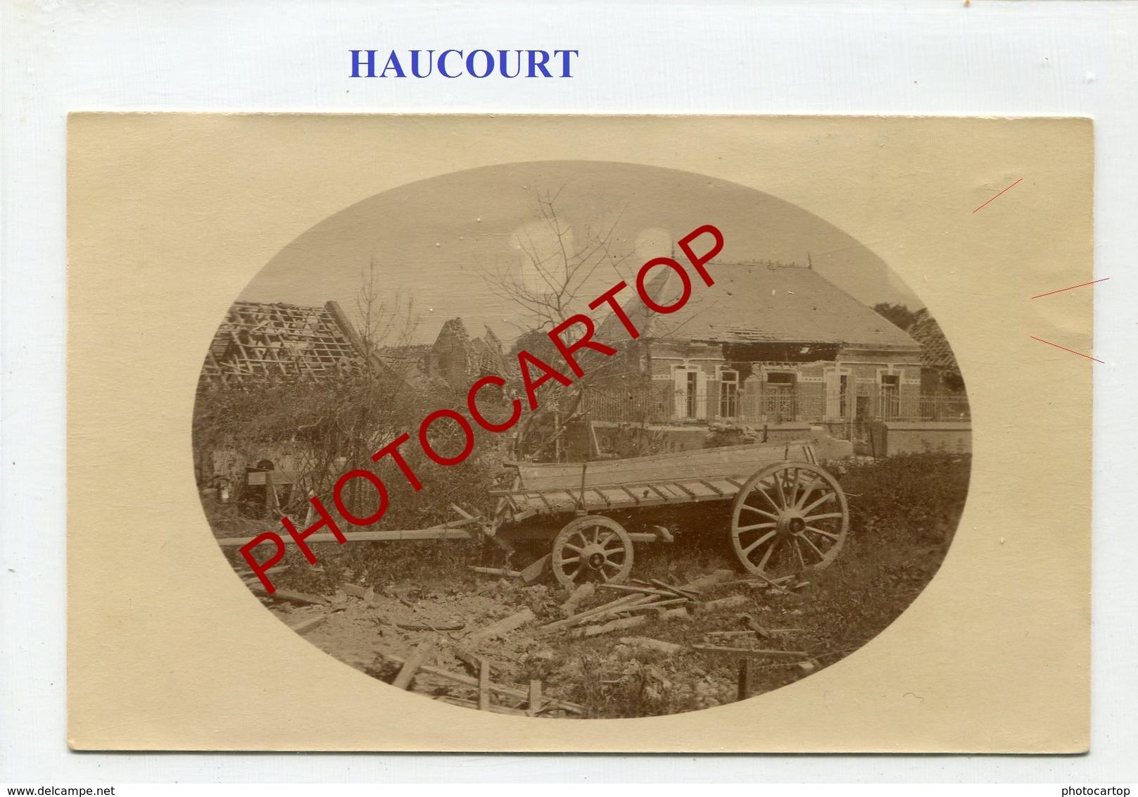 HAUCOURT-Juin 1917-CARTE PHOTO Allemande-Guerre 14-18-1WK-France-62-Militaria- - France