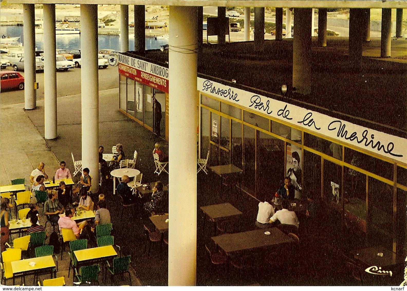 """CP De SANT'AMBROGIO """" Le Centre Commercial """"  ( Lumio ) - Calvi"""