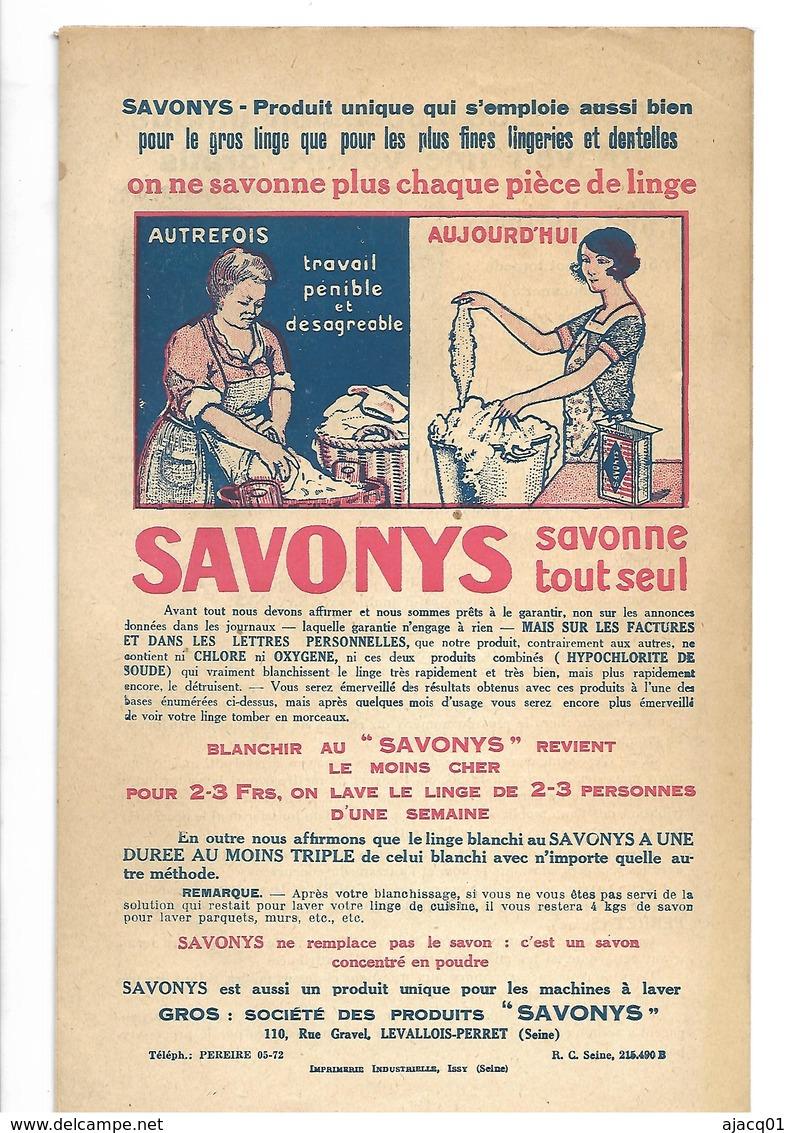 92 Levallois Perret  Lot De 10 Publicités  Savonys Face Plus Dos - Books, Magazines, Comics
